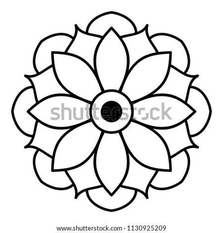 Mandala pattern black and white. Islam, Arabic, Pakistan, Moroccan, Turkish, Indian, Spain motifs. Vector illustration EPS 10.