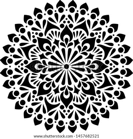 Mandala Pattern Stencil doodles sketch good mood