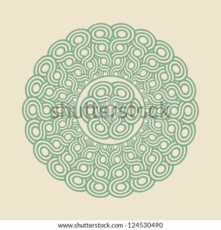 Mandala - round design template