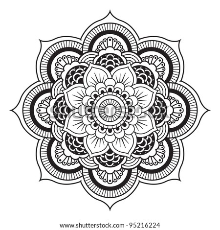 Mandala. Round Ornament Pattern - stock vector