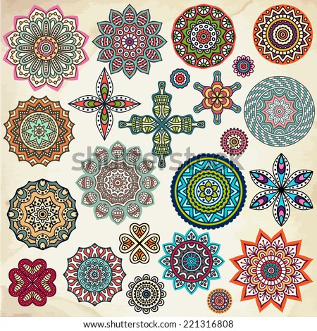 Mandala Round Ornament Pattern Vintage decorative elements Hand drawn background Islam Arabic Indian ottoman motifs