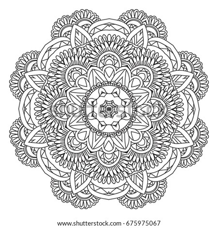 Mandala. Round Ornament.Vintage decorative elements. Oriental pattern, vector illustration. Islam, Arabic or Indian or turkish or pakistan or chinese or ottoman motifs.