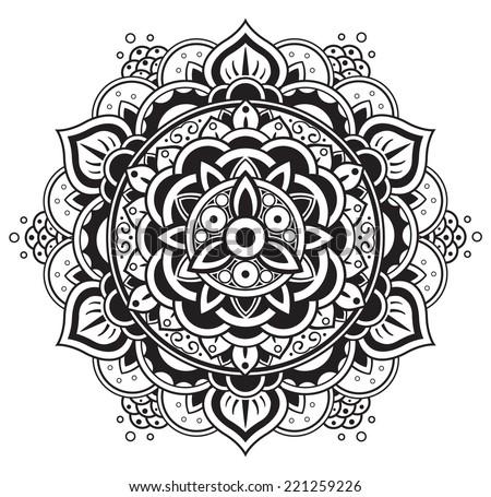 Mandala Round Pattern Stock Vector Illustration 221259226