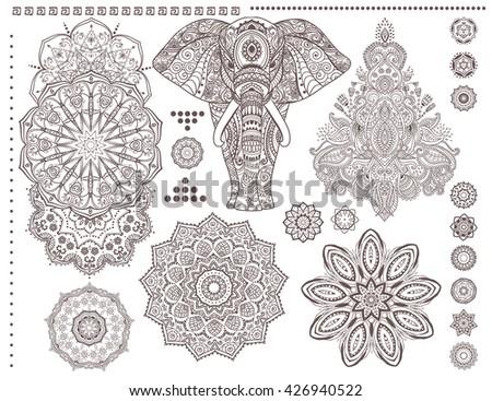 Mandala Decorative Ornaments White Background Vector - Download Free ...
