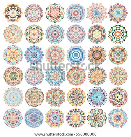 mandala vector design elements