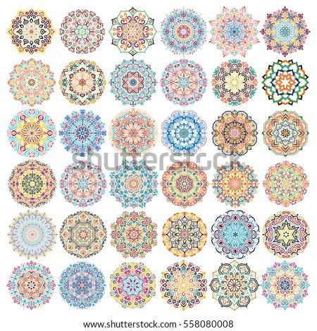 mandala vector design elements