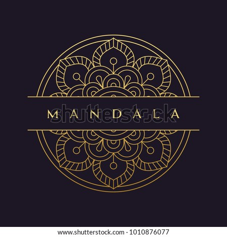 mandala - vector logo/icon illustration