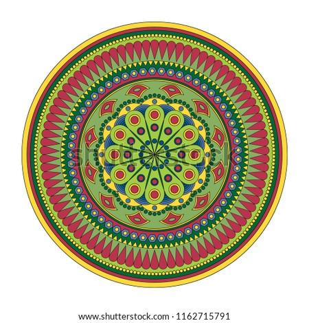 Mandala, Vector Mandala, oriental mandala, coloring mandala. Oriental pattern, vector illustration. Islam, Arabic, Indian, turkish, pakistan, chinese, ottoman motifs