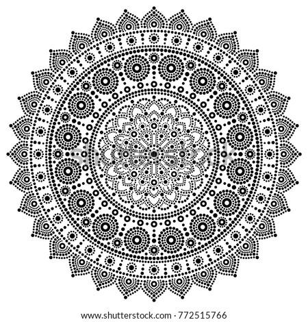 mandala vector monochrome