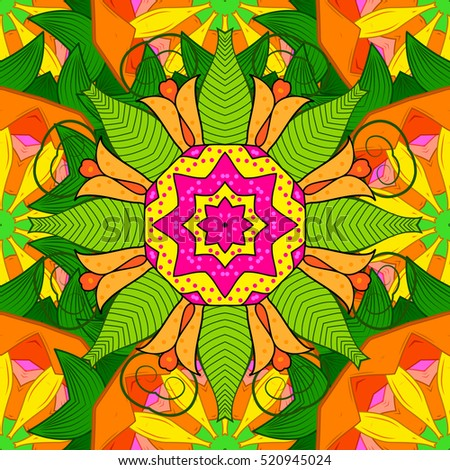 mandalas floral background