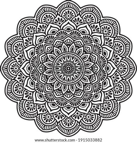 Mandalas for coloring book. Decorative round ornaments. Unusual flower shape. Oriental vector, Mandala patterns. Weave design elements. Yoga logos Vector.