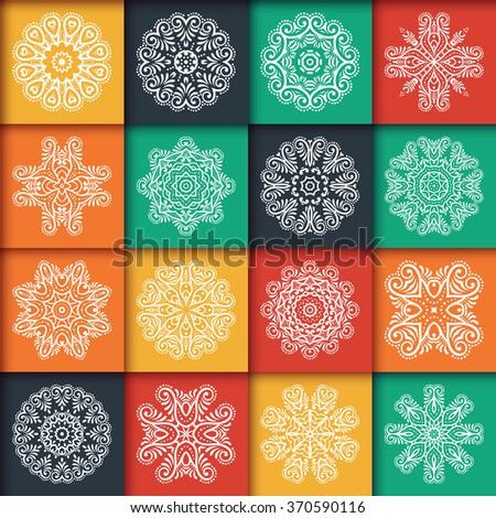 Mandalas. Vintage decorative elements. Oriental pattern, vector illustration.  Islam, Arabic, Indian, Turkish, Pakistan, Chinese, Ottoman motifs #370590116