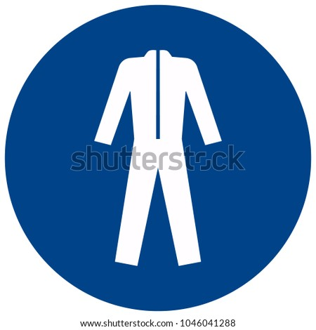 Mandatory sign vector - Wear protective clothing symbol, label, sticker Stock photo ©