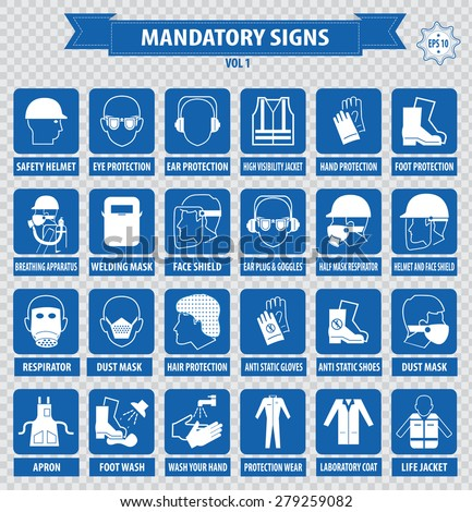 mandatory signs  construction