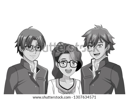 manga anime friends cartoon