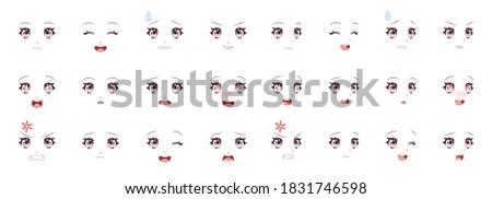 manga expression girl eyes