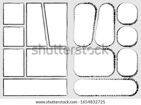 manga set storyboard layout