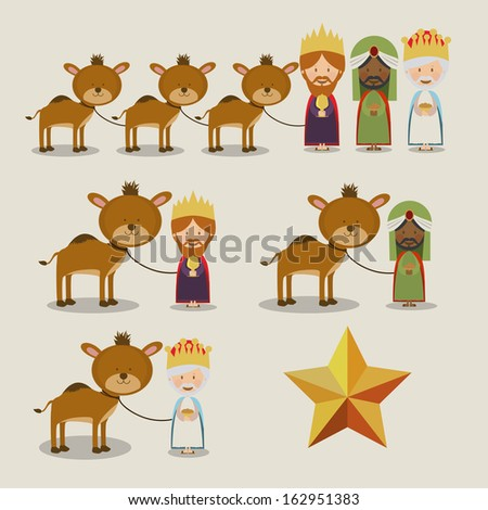 manger design over background vector illustration