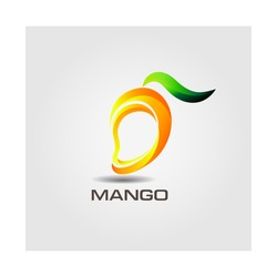 Mango and Healthy Fruit design with modern style, vector illustration