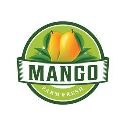 Mango farm fresh logo template