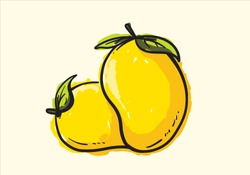mango fruit hand drawn
