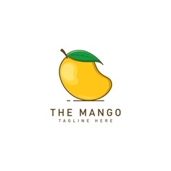 Mango fruit logo vector  template. Mango in flat style. Mango icon. Mango and Healthy Fruit design with modern style. Vector illustration