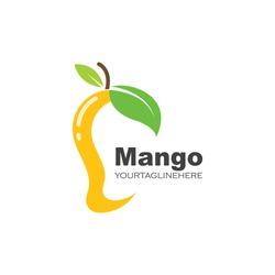 mango fruit vector illustration logo icon
