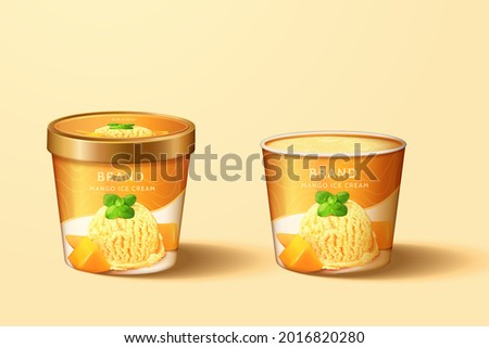 mango ice cream cup package