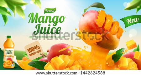 mango juice banner ads with