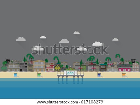 manhattan beach illustration