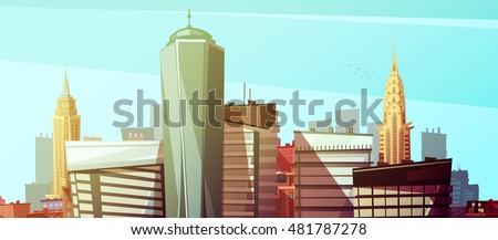 manhattan cityscape with world