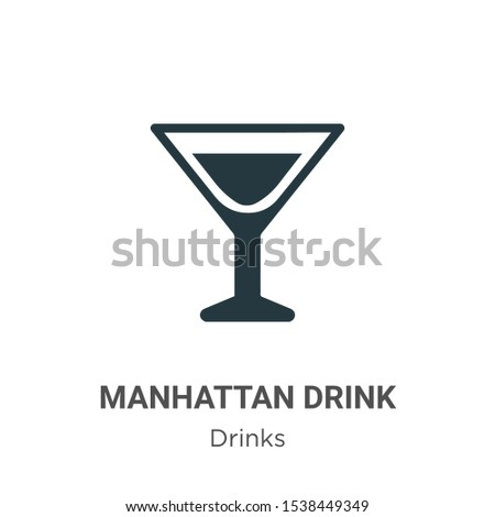 Manhattan drink vector icon on white background. Flat vector manhattan drink icon symbol sign from modern drinks collection for mobile concept and web apps design.