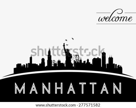 manhattan new york usa skyline