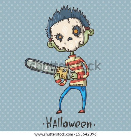 maniac with a chainsaw