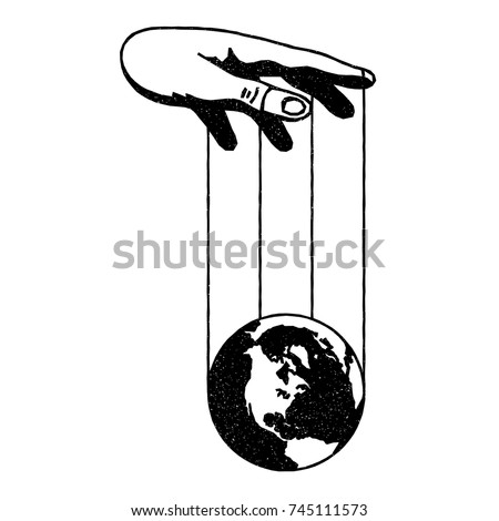 manipulation hand and earth