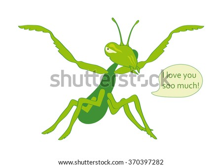 mantis eats you with love