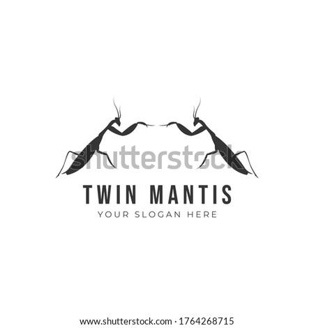 mantis logo design vector