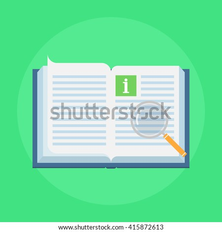 Manual book vector icon in flat style concept user manual for Vector canape user manual