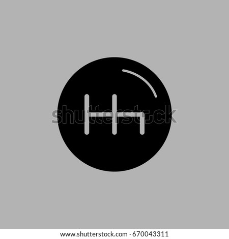 Manual transmission vector icon