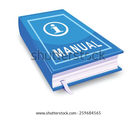 Manual user guide stock vector illustration 259684565 for Vector canape user manual