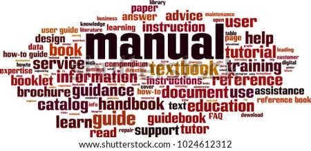 Manual word cloud concept. Vector illustration