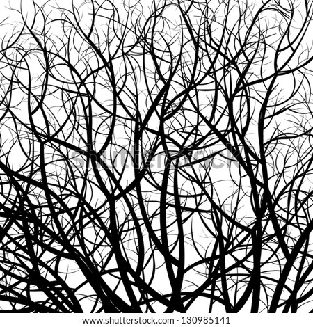 Manually Drawn Tree Pattern Vector 130985141 Shutterstock