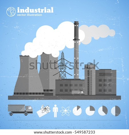 manufacturing plant background...