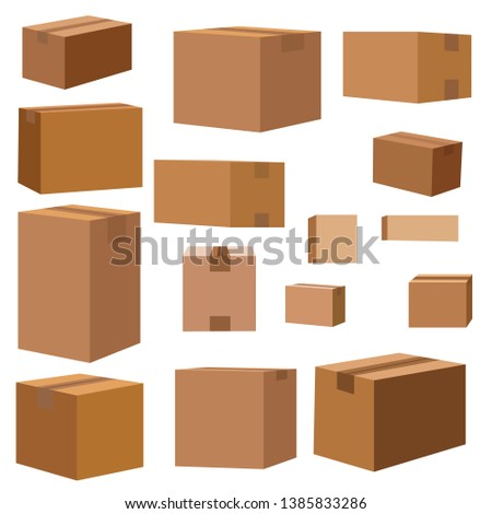 Many cartons for moving. Brown boxes