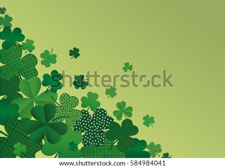 many decorative clover a pile