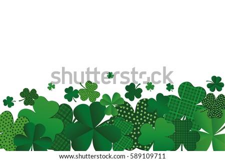 many decorative clover a pile