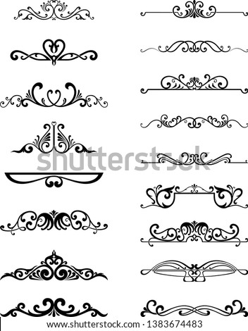 many dividers elements for design