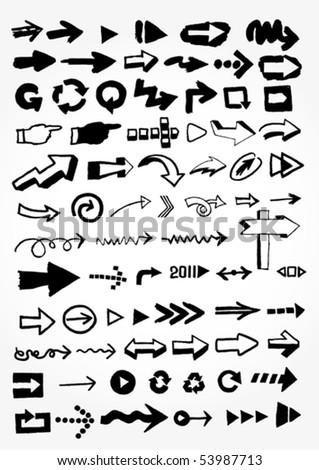 many doodled arrows