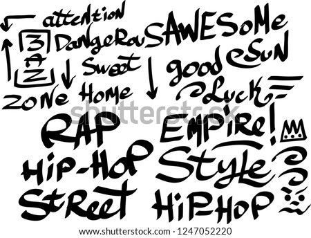 Graffiti Marker Tags Style Download Free Vector Art Stock