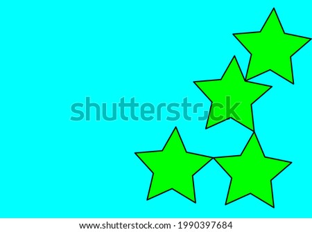 many green stars on blue baqckground